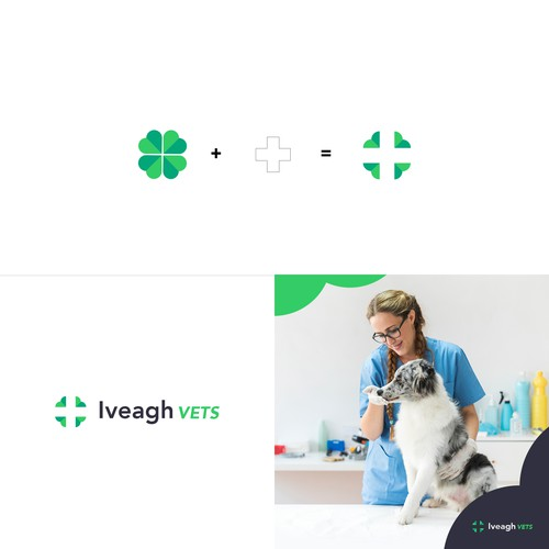 Animal hospital design with the title 'Logo concept for a Nothern-Irish Vet Clinic'