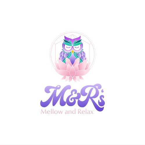 Candle design with the title 'M&R's'