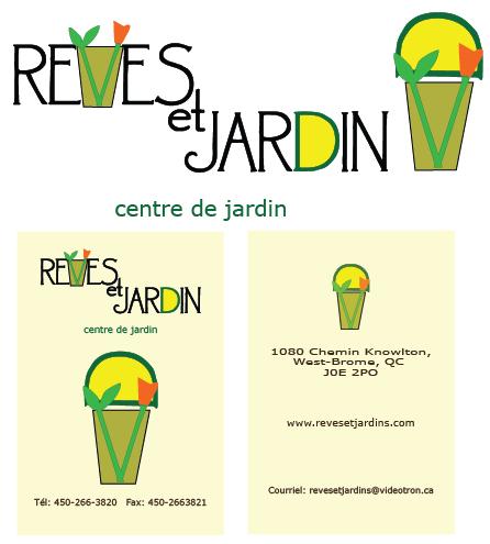 Vase design with the title 'REVES ET JARDIN'