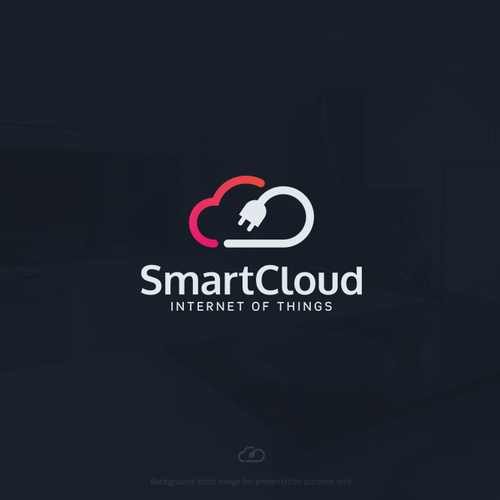 Smart logo with the title 'Minimal logo for Internet of Things platform'