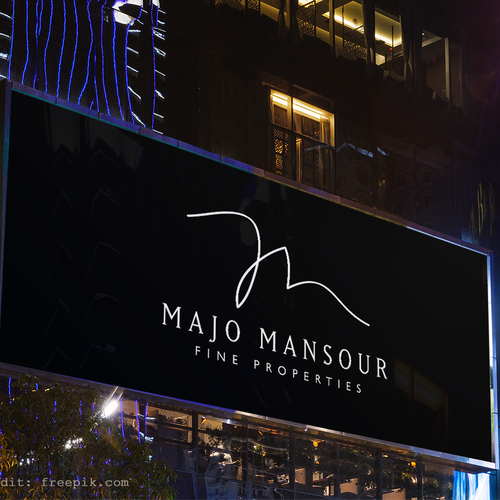 Signature design with the title 'Initials for Majo Mansour '