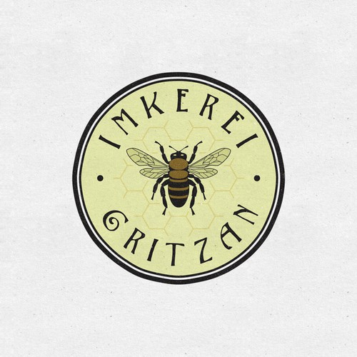 Honeycomb design with the title 'Logo design for an apiary'