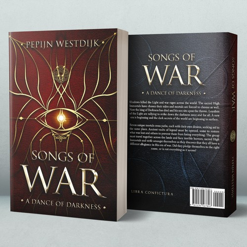 Red book cover with the title 'Songs of War'
