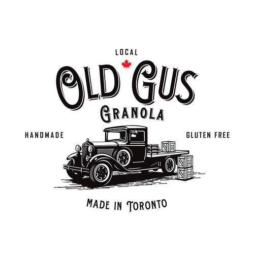 Canadian logo with the title 'Create a classic logo with illustration of vintage Ford truck'