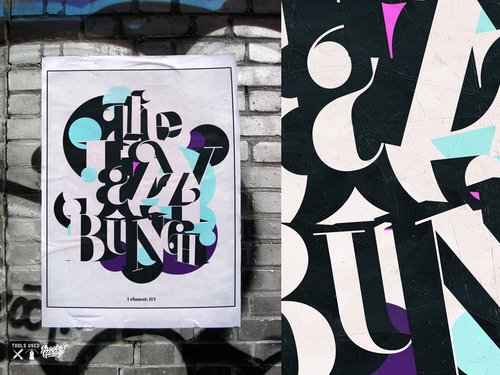 Typography artwork with the title 'The Jazzy Bunch'