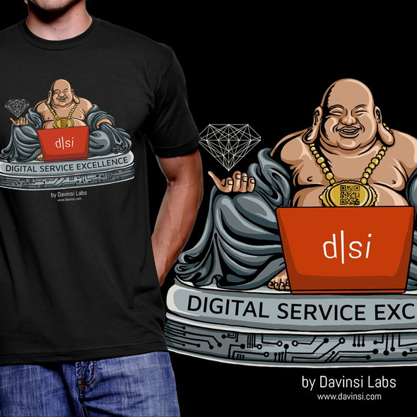 T-shirt with the title 'T-shirt for Davinsi Labs'