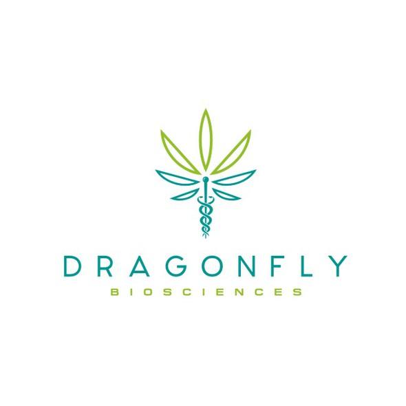 Caduceus logo with the title 'Logo for Wellness / Pharma company Dragonfly Sciences'