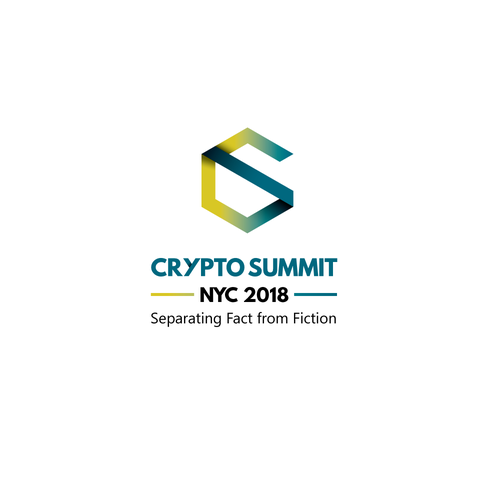 Cryptocurrency logo with the title 'Crypto Summit Logo'