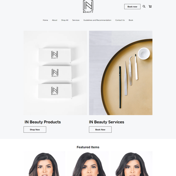 Environmental design with the title 'SQUARE ONLINE STORE | Design for IN Beauty'