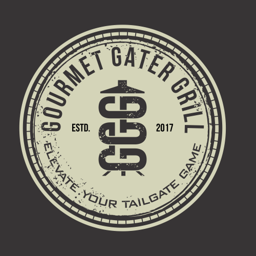 Grill design with the title 'Gourmet gater grill'