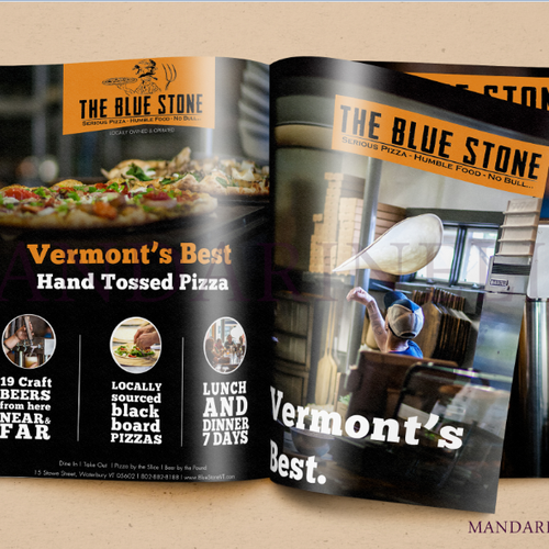 Page layout design with the title 'Full Page Restaurant Ad!'