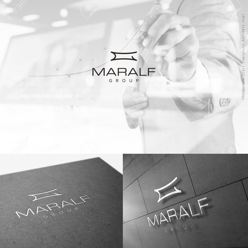 Crisp design with the title 'Logo for an investment company: www.maralfgroup.com'