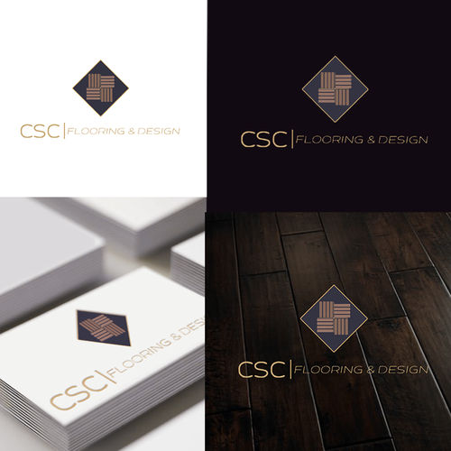Flooring logo with the title 'Clean, sophisticated design for flooring and interior design company'