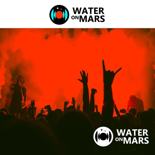 Recording studio design with the title 'water on mars (recording studio logo)'