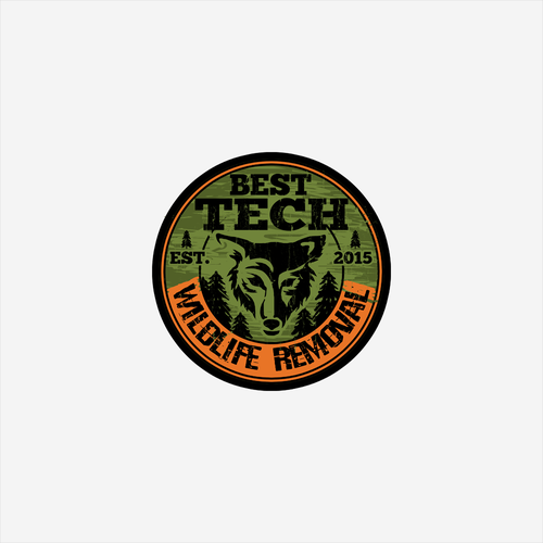 Wildlife logo with the title 'Robust wildlife control logo design'