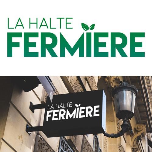 Farmer logo with the title 'La Halte Fermiere'