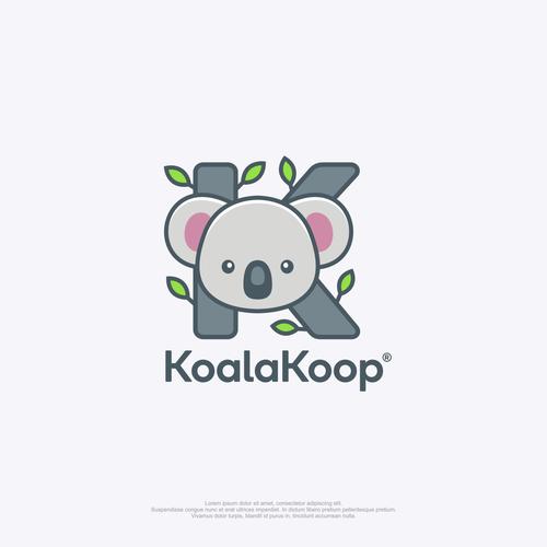 Koala logo with the title 'Clothing company logo'