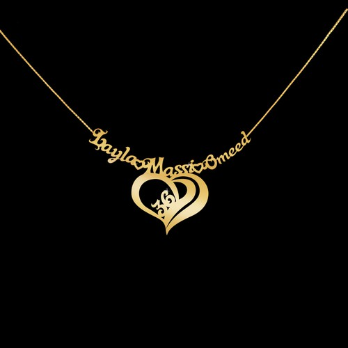 Necklace design with the title 'Wedding Anniversary Necklace Design'