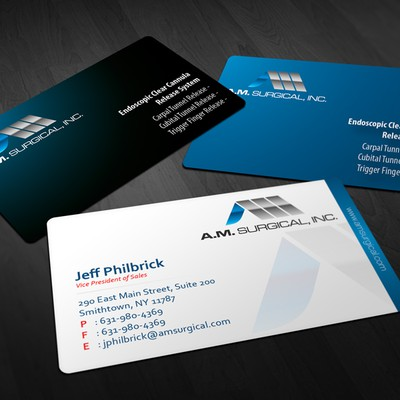 Business Card for Surgery Company - A.M. Surgical, Inc.