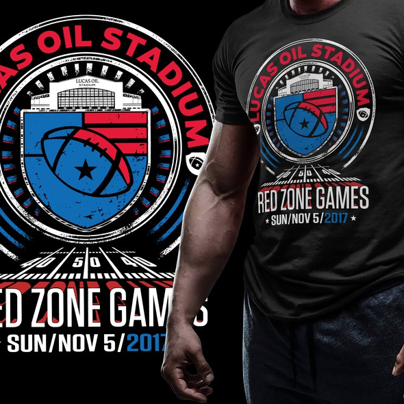 Stadium design with the title 'Red Zone Games'