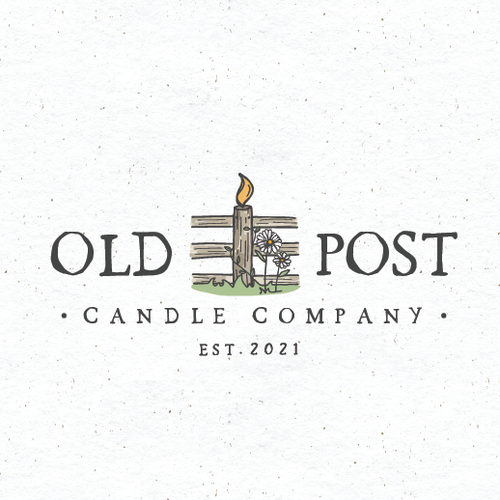 Countryside logo with the title 'old post candle co.'