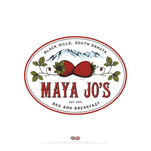 Feminine design with the title 'Maya Jo's Bed and Breakfast'