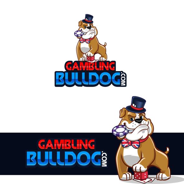 Gambling design with the title 'Cartoon Style Bulldog Logo '