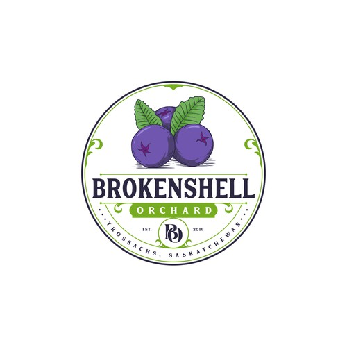 Orchard logo with the title 'Brokenshell Orchard'