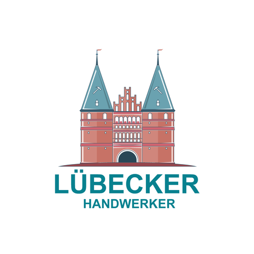 Fortress logo with the title 'Lübecker Handwerker Logo design'
