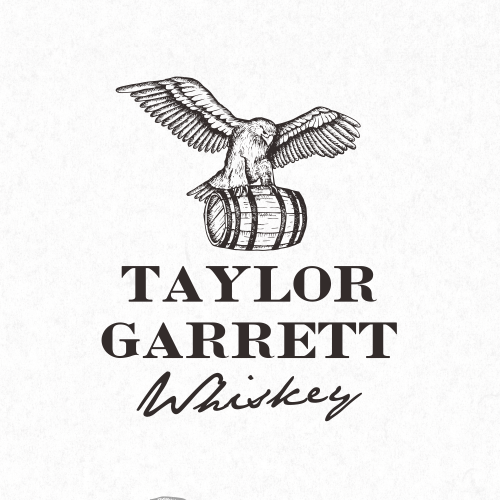 Whiskey logo with the title 'Logo Design for Taylor Garrett Whiskey'