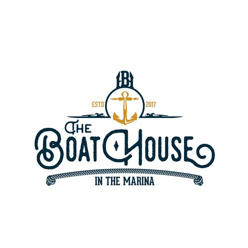 Bartender logo with the title 'The BoatHouse'