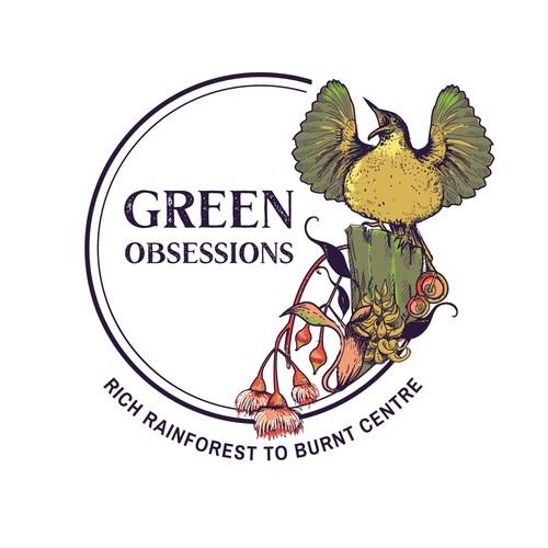 Nature logo with the title 'logo for Green obsessions'