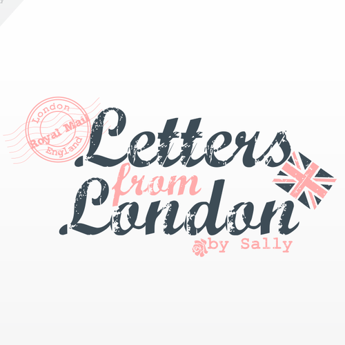 Distressed logo with the title 'Help Letters from London by Sally with a new logo'