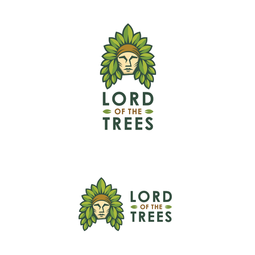American Indian logo with the title 'Logo for tree planting organization'
