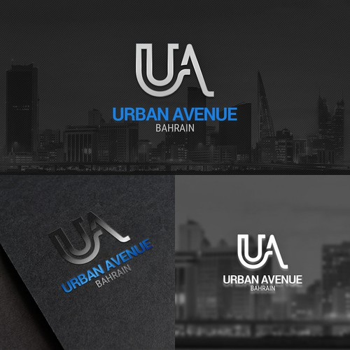 Skyline design with the title 'logo for urban company in Bahrian'