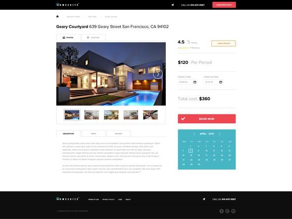 Interior design website with the title 'Homesuite'
