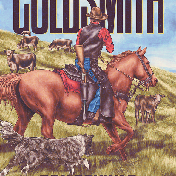Fine art design with the title 'Original book cover for western author '