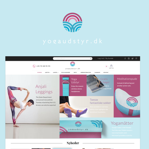 Yoga website with the title 'Design for yoga site'