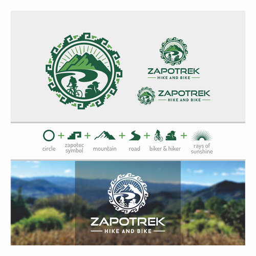 Sunlight logo with the title 'ZAPOTREK Hike and Bike'