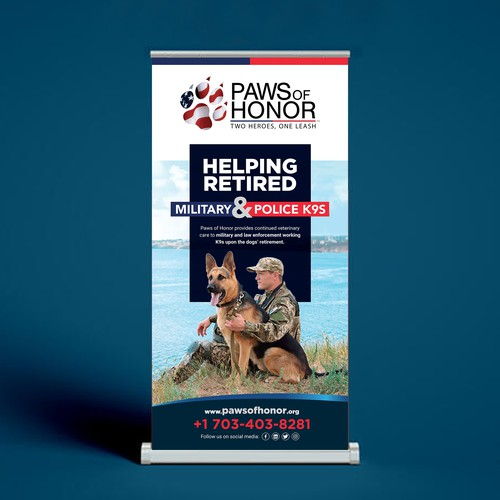 Pet design with the title 'Paws Banners design for Military & Law Enforcement K9 Non-profit'