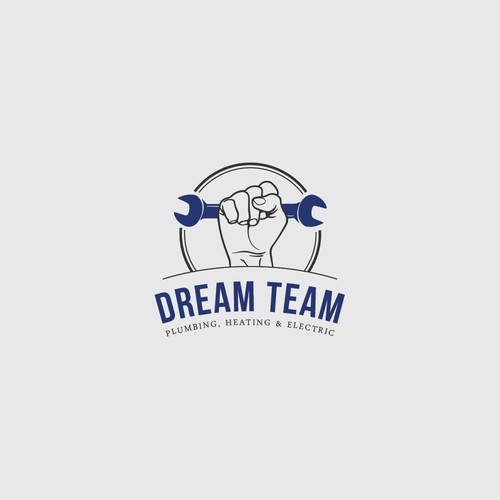 Heating logo with the title 'Strong and classic logo concept for Dream Team'