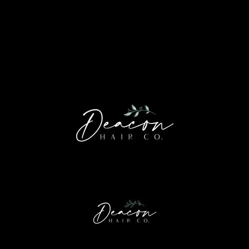 Natural logo with the title 'Logo Design for Deacon Hair Co.'
