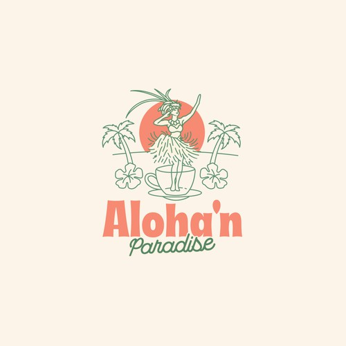 Hippie logo with the title 'Alohan Paradise'