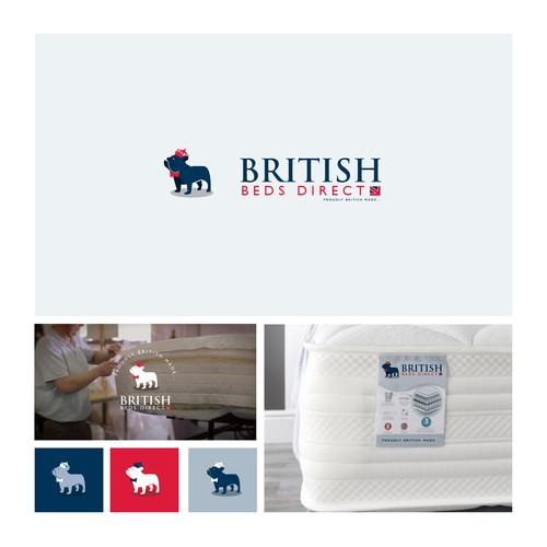 Bulldog design with the title 'British Beds Direct'