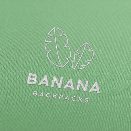 Backpack logo with the title 'BANANA Backpacks'