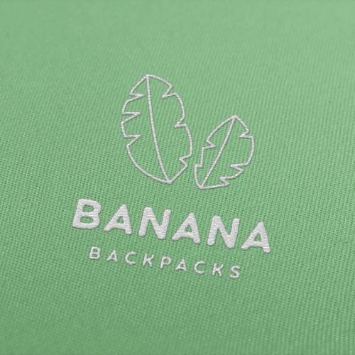Banana logo with the title 'BANANA Backpacks'