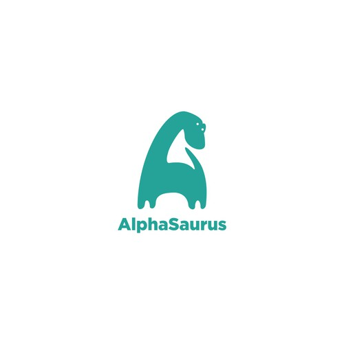 Sticker logo with the title 'Alphasaurus rawr!!'