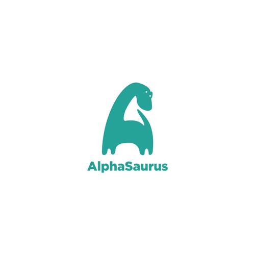 Dinosaur logo with the title 'Alphasaurus rawr!!'