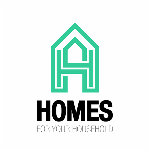 Household logo with the title 'HOMES logo concept'
