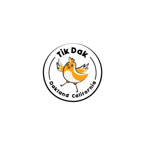 Chicken logo with the title 'Tik Dak Logo'